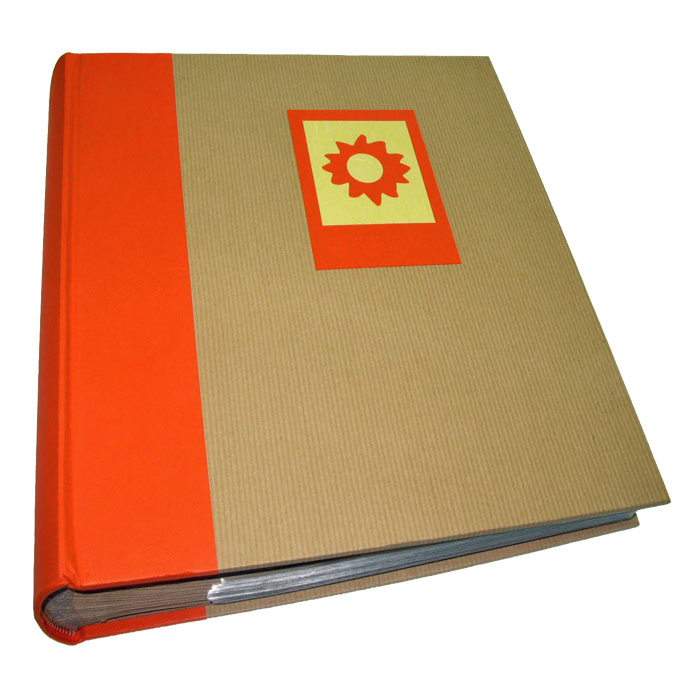 green earth orange sun 7x5 slip in photo album 200. Black Bedroom Furniture Sets. Home Design Ideas